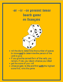 board game PRESENT ER IR RE FRENCH