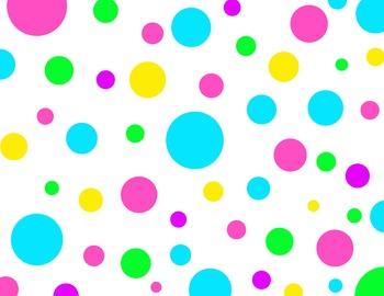bright polka dot scrapbook paper
