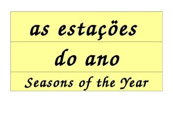 Seasons Calendar in Spanish