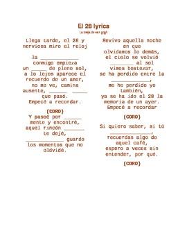 cancion: el 28 SONG LYRICS - SPN 1
