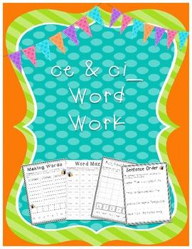 ce and ci Word Work Literacy Bundle {Word Work}
