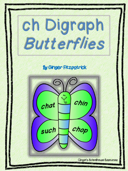 ch Digraph Butterfly Card Game