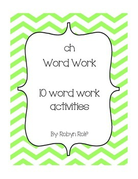 ch Word Work Packet