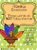 ch or tch? Turkeys Literacy Centers and Rules Poster