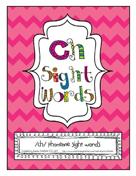 ch sight words for speech therapy - articulation flashcard