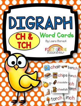 ch & tch Digraph Word Cards