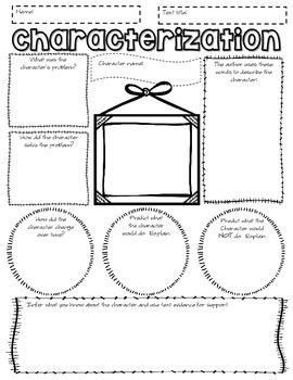 characterization graphic organizer