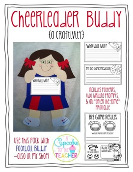 Cheerleader Buddy {a Craftivity}