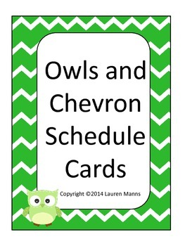 chevron and owl schedule cards