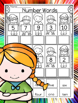 christmas number words.(free)