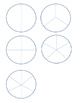 circle and bar fraction flip booklet interactive math journal
