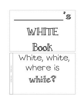 color book, white