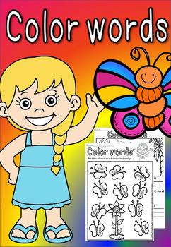 color words worksheets(FREE -FEEDBACK CHALLENGE)