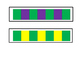 colour repeated pattern strips