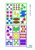 Colors & Shapes Counting Lotto Reading Game, Autism & Spec