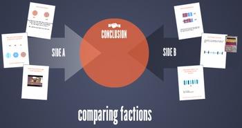 Prezi about comparing fractions