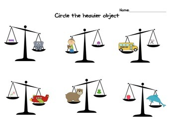 comparing weight: which one is heavier?