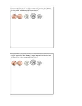 counting coins exit ticket