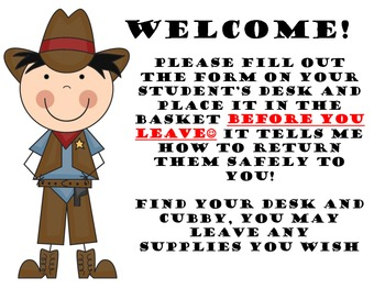 cowboy Welcome cover sheet