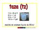 cup/taza meas 2-way blue/rojo