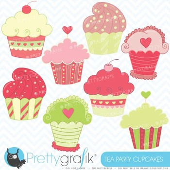 cupcakes clipart commercial use, vector graphics, digital