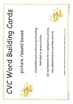 cvc Word Building Cards
