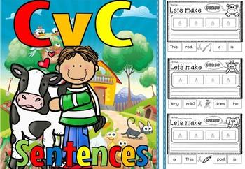 cvc sentences short o(free for 48 hours)