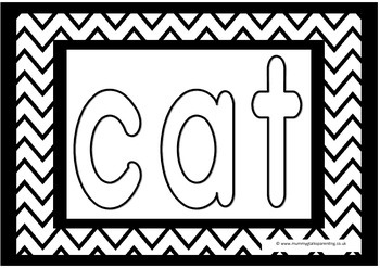 cvc words colouring pages for preschool, prek, reception,