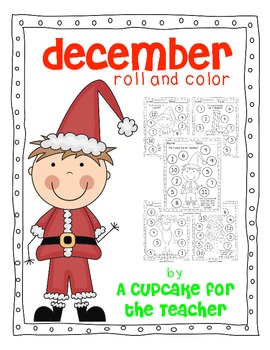 December Roll and Color {Free Printables}