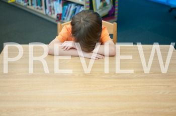 Stock Photo Styled Image: Discouraged Student #2 -Personal