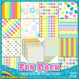 digital paper in bright colors for kids, printable/product