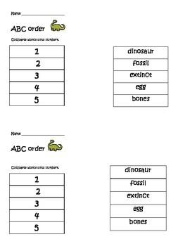 dinosaur ABC order