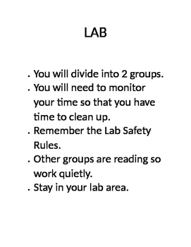 directions for independent lab station