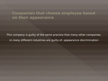 discrimination based on appearance in workplace