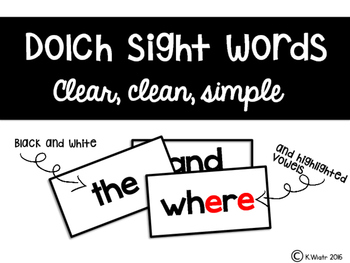 dolch sight words: word wall words -  primer