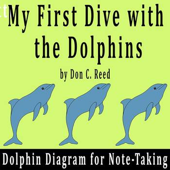 """""""My First Dive with the Dolphins"""" by D. Reed - Dolphin Dia"""
