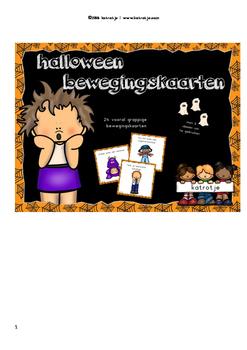 dutch: bewegingskaarten voor halloween