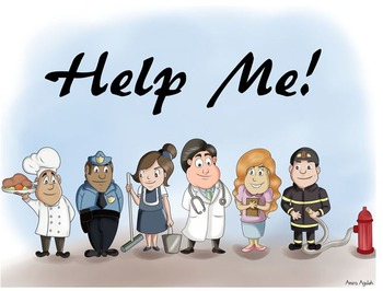 Interactive e-story community workers or helpers theme
