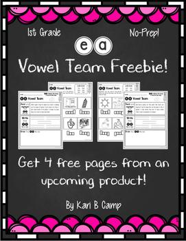 ea Vowel Team Freebie!