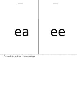 ea, ee vowel team flip book