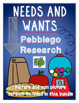 economics: needs and wants {pebblego research} [picture an