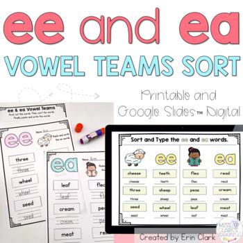 ee/ea Vowel Teams Sort