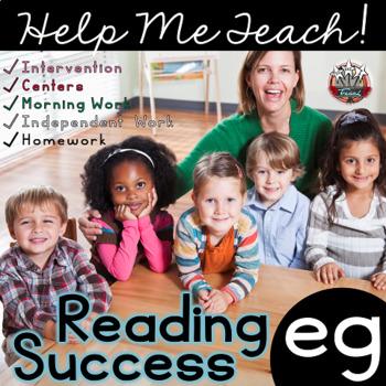 eg Word Family: Intervention, Homework, Morning Work, Centers,