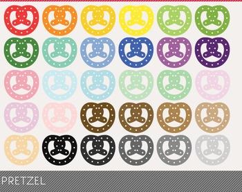 Pretzel Digital Clipart, Pretzel Graphics, Pretzel PNG