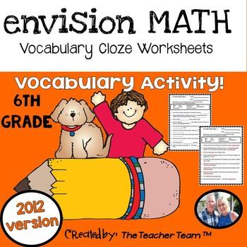 enVision Math 6th Grade Common Core 2012 Vocabulary Activities