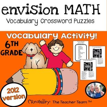enVision 6th Grade Common Core 2012 Crossword Puzzles Topics 1-19