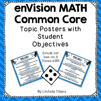 enVision MATH Common Core 1st Grade Topic Posters with Stu