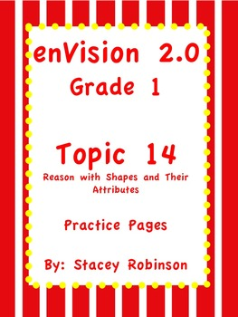 enVision Math 2.0  Topic 14   Grade 1  Practice Sheet