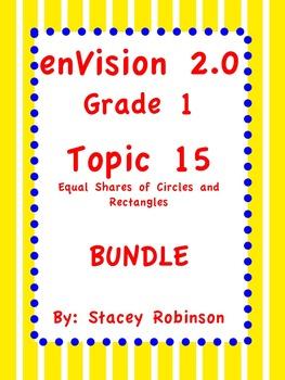 enVision Math 2.0  Topic 15   ~BUNDLE~ Grade 1