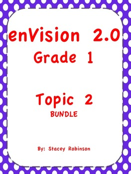 enVision Math 2.0  Topic 2  BUNDLE Grade 1